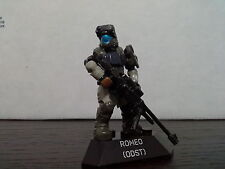 Mega Bloks HALO ODST ROMEO with black sniper rifle v1 from Halo Heroes Series 2