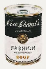 COCO CHANEL FASHION SOUP ART IMAGE A4 Poster Gloss Print Laminated