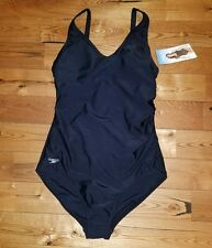 NWT Womens SPEEDO Black One Piece Swimsuit Size 14