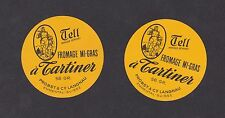 2 Anciennes petites  étiquette fromage Suisse BN13374 William Tell