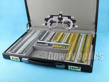 Quality 266 Silver Gold Metal Trial Lens Set Leather Case With Free Trial Frame