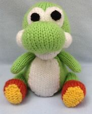 KNITTING PATTERN - Dinosaur inspired by Yoshi Woolly World orange cover or toy