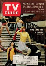 1966 TV Guide October 22-Lucy models mod clothing; Jericho; Tabatha of Bewitched