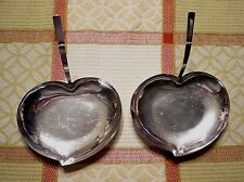 (2) Vintage THREE CROWN Silversmiths WATER LILLY trays/dishes. Excellent cond.