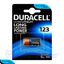 1 x Duracell Ultra Lithium CR123A battery 3V CR17345 EL123 EXP:2024 Pack of 1