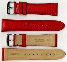 Invicta Genuine 24mm Red Lizard Leather Watch Strap IS147 BRAND NEW!!