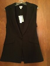 Worthington Black Sleeveless Woman's Suit Jacket Blazer/Vest . Size S NWT