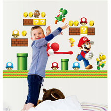 DIY Super Mario Bros Removable Wall Sticker Decals Kids Nursery Vinyl Art Decor
