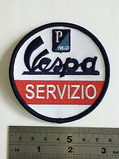 Vespa Servizio Patch - Embroidered - Iron or Sew On