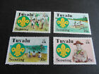 TUVALU 1977 SG 73-76 50TH ANNIV OF SCOUTING. MNH