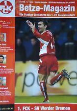 Programm Pokal 2002/03 1. FC Kaiserslautern - Werder Bremen