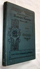 GEIBELS GEDICHTE - Schul-Ausgaben Deutscher Klassiker - 1911