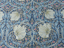 William Morris Curtain Fabric 'Pimpernel' 1.25 METRES (125cm) Indigo/Hemp