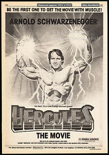 HERCULES The Movie / in NEW YORK__Original 1983 Trade AD /poster__SCHWARZENEGGER