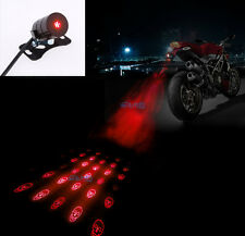 Skull Motorcycle Led Laser Rear Fog Light Anti-Collision Brake Tail Warning Lamp