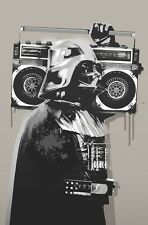 STAR WARS DARTH VADER GHETTO BLASTER  IMAGE A4 Poster Laminated Gloss Print