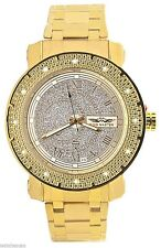 King Master Men's Silver Dial Gold Tone Bracelet Diamond Watch