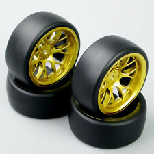 HobbyGo DHG 1:10 RC Speed Drift Racing Car Tires Tyre Set Wheel Rim For HSP HPI