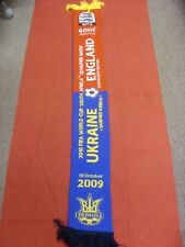 10/10/2009 Ukraine v England - Football Scarf With Full Game Details on both sid