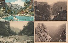 Lot 4 cartes postales anciennes GORGES DU VERDON 2