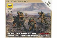 ZVEZDA 6168 1/72 British 3 Inch Mortar with Crew
