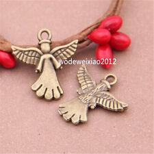 12pc Antique Bronze Bead Charms angel Pendant Accessories wholesale PL467