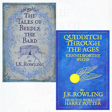 J. K. Rowling 2 Books Collection Set (Quidditch Through the Ages) Brand New Pack