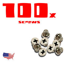 BRAND NEW 100x Screws Set LAPTOP Hard Drives HDD Caddy Cover Flat Head 3 mm LOT
