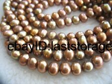"freshwater pearl 6-7mm brown near round  necklace 60"" wholesale beads nature"