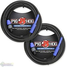 "2-pack Pig Hog PHSC25S14 Tour Grade Speaker Cable, SPKON to 1/4"" 25ft - NEW"