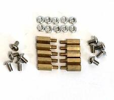 PC BOARD METAL STANDOFFS  10 PCS WITH NUTS AND SCREWS