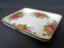 OLD COUNTRY ROSES RARE OBLONG SANDWICH TRAY, 1st QLTY, VGC, 1962-73 ROYAL ALBERT