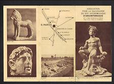 """SAINT-MARCEL / ARGENTON-sur-CREUSE 36: ARCHEOLOGIE """"ARGENTOMAGUS"""" Tract dépliant"""