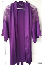 GORGEOUS PURPLE SILKY ROBE WITH LACE BY VICTORIA'S SECRET UK SIZE XS/S