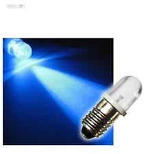 10 E10 LED-lampes Culot à vis BLEU 12V DC LEDs AMPOULE AUTOMOBILE