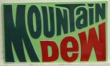 MOUNTAIN DEW heavy embossed metal sign 70's dew logo soda  vintage style 2170191