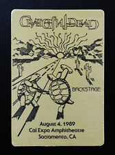 Grateful Dead Backstage Pass Terrapin Station Dancing Turtles Cal Expo 8/4/1989