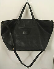 Authentic RARE MULBERRY Leather Black Vintage 1980 Holdall Travel Gym Bag