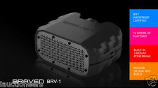 BRAVEN BRV-1 WIRELESS BLUETOOTH PORTABLE WATERPROOF RUGGED SPEAKER- BLACK/CYAN