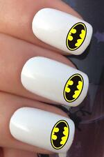 WATER NAIL BATMAN LOGO FANCY DRESS COSTUME TRANSFERS DECALS STICKERS *683