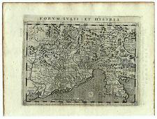 Carte ancienne MAGINI map 1597 HISTRIA Istrie Istra Trieste Venezia Undine 141