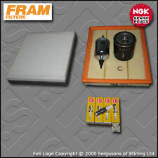 SERVICE KIT VAUXHALL ZAFIRA MK1 1.6 OIL AIR FUEL CABIN FILTER PLUGS X16XEL BEHR