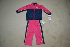 Puma Toddler 12 Months Track Jacket and Pants Outfit  Color: Pink -- New w/Tags!