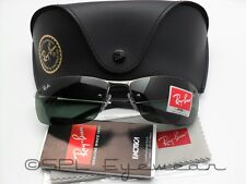 rb3183 qcpo  Ray Ban Active RB 3183 004/71 Gunmetal Frame + Green Lens 100% Authentic