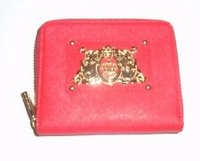 Juicy Couture Small Red Leather Zip Wallet YSRU0170 New $79.99