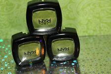 Lot of 3 NYX Single Eyeshadow  #47 KIWI SEALED / NEW + GIFT
