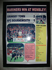 Grimsby Town 2 AFC Bournemouth 1 - 1998 AWS final - framed print