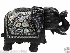 "12"" Marble Elephant Handmade Paua Shell Pietra Dura Mosaic Gifts Home Decor Arts"
