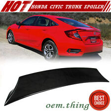 Carbon For Honda Civic X 10th Sedan V Style Rear Trunk Lip Spoiler EX-L 2016 DX