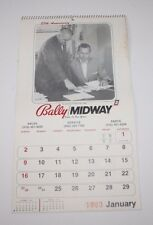 Rare Vintage Bally Midway Calendar 1983 Advertising Dealers Only Video 25th Annv